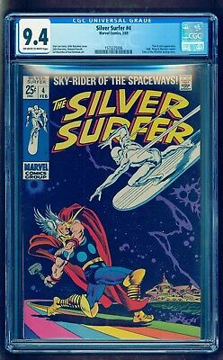 Silver Surfer 4 Cgc 9.4 Nm ** Bright Colors ** Very Nice Copy!!