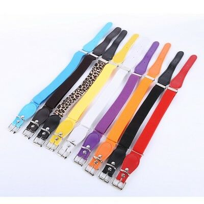 Toddler Baby Candy Colour Waist Belt Buckle PU Leather Girls Boys Waistband 1Pcs