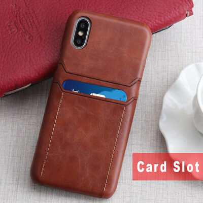 PU Leather Credit Card Holder Wallet Back Case Cover For iPhone XS Max XR 8 7P 6