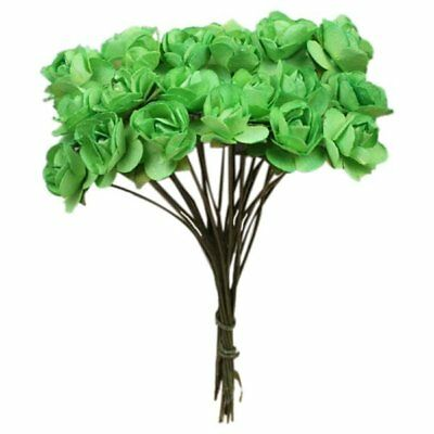 Small Flower Bud Artificial Rose Paper Bouquet Wedding 144PCS, Green T6V5