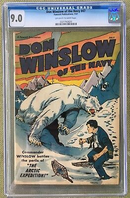 Don Winslow Of The Navy #47 Cgc 9.0 -- 2Nd Highest Graded! O/w To White Pages!