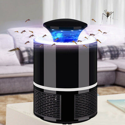 USB LED Electric Mosquito Zapper Killer Fly Insect Bug Trap Lamp Light Bulb
