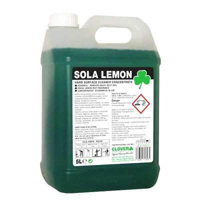 Clover Sola Lemon (5 ltr) Universal Hard Surface Cleaner Concentrate