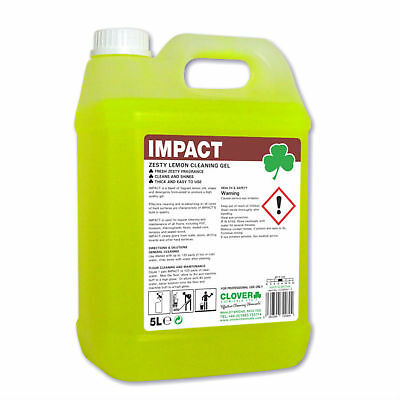 Clover Impact Lemon Gel (2 x 5 ltr) concentrated low foam hard surface cleaner