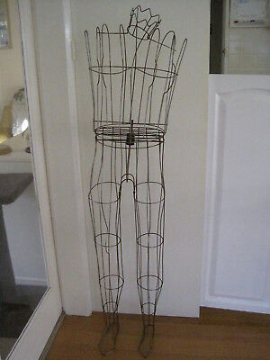 Vintage Metal Wire Display Stand For Women's Clothing / Wire Frame Mannequin