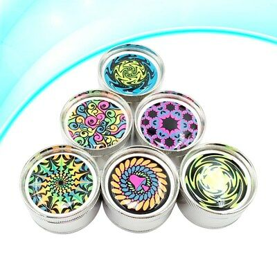 50mm Herb Grinder Spice Tobacco/Weed Smoke Crusher Leaf Design Zinc Alloy