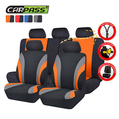 CARPASS 11PCS Washable Automobile Universal Car Seat Covers 40/60 50/50 split