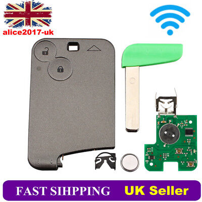 For Renault Laguna Espace 2 Button 433MHz  Remote Key Card Battary PCF7947 Chip