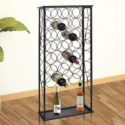 Metal Wine Rack Wine Stand for 28 Bottles M4P4