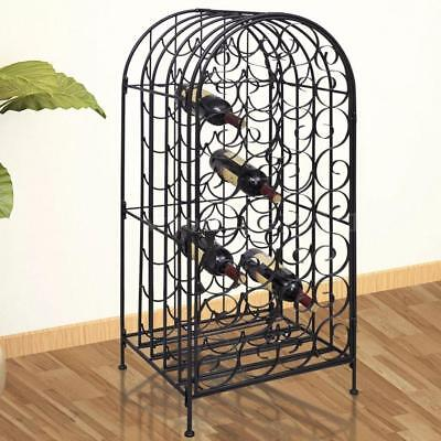 Metal Wine Storage Cabinet Wine Rack Wine Stand Display Organizer 3 Bottle L0D8
