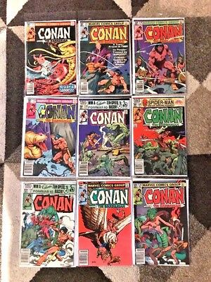 Lot Of 14 Issues Of Marvel's Conan The Barbarian Comics