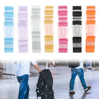 Adjustable Luggage Straps Tie Down Belt for Baggage Travel Buckle Lock Suitcase