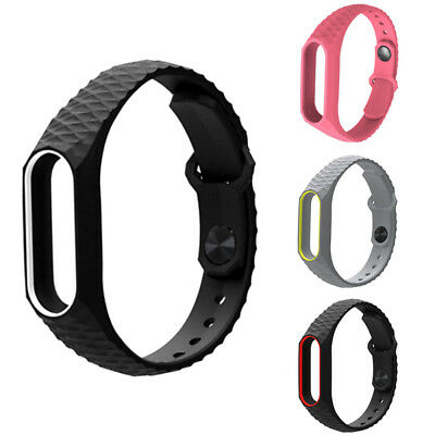 For Xiaomi Mi Band2 Adjustable Bangle Soft Silicone Strap Wristband Bracelet