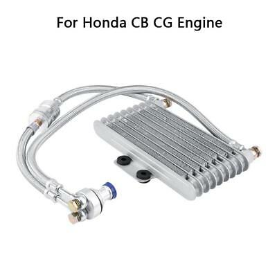 125ml Motorcycle Oil Cooler Engine Oil Cooling Radiator Kit for Honda CB CG AM