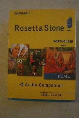 - Rosetta Stone Portuguese (Brazil) Dvd-Rom  Mac/win [Audio Companion] Sealed