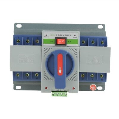 Mini Type Transfer Switch Dual Power Automatic Transfer Switch 63A 3P 220V ams