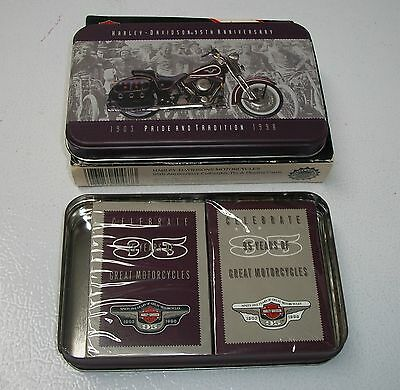 Harley- Davidson 95Th Anniversary Playing Cards In Tin