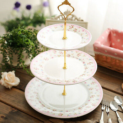 3 Tier Cake Plate Stand Crown Handle Fitting Hardware Rod Plate Wedding Decor