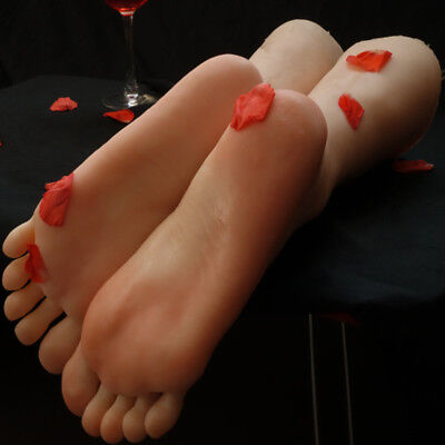 Long Foot Mannequin Silicone Model Shoes Display Size 39#  T39