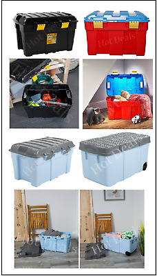 Wham Plastic Storage Trunk And Tough Cart Container Toy Chest Holders Tool Craft