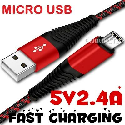 Nylon Braided Fast Charge Heavy Duty Micro USB Sync Charger Charging Power Cable