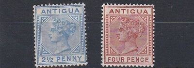 Antigua  1884 - 87    S G 27 - 28    Values To 4D   Mh