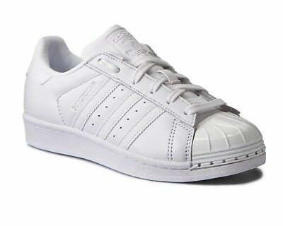 low priced b73fe 5e0e1 Adidas Originals SUPERSTAR Metal Toe W BY9751 B Ladies Trainers White Shoes