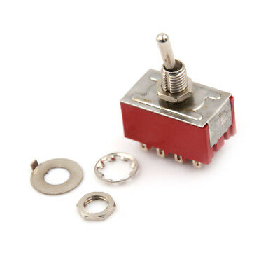 MTS-402 6A/125VAC 2A/250VAC 12 Pin 4PDT ON/ON 2 Position Mini Toggle Switch PB