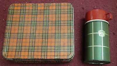 Aladdin Industries Plaid Metal Lunchbox With Thermos