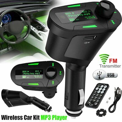 Bluetooth FM Transmitter MP3 Player USB Stick KFZ Auto SD Freisprechanlage FM DE