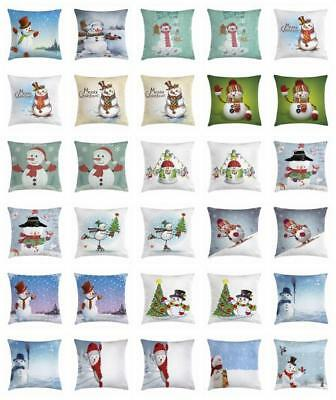 Snowman Throw Pillow Cases Cushion Covers Home Decor 8 Sizes by Ambesonne