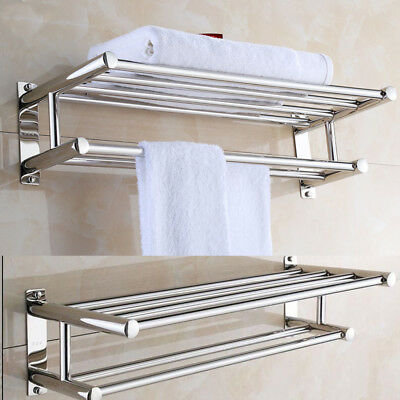Salle De Bain Mural Chrome Porte Serviettes Support Stockage Rack