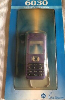 Nokia 6030 - Full Fascia Housing Cover Front Back Case Keypad Replacement Purple