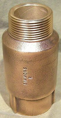 Check Valve 1 1/4 in. x 1 1/4 in. Simmons Female Male Threads Silicon bronze