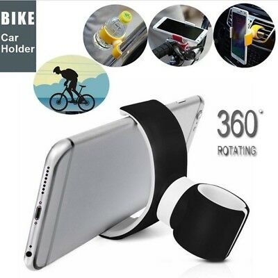 New 360 Degrees Universal Air Vent Mount Bicycle Car Cell Phone Holder Stands