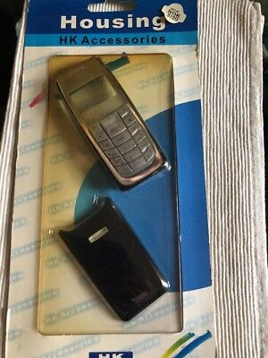 Nokia 3120 - Full Fascia Housing Cover Front Back Case Keypad Replacement- Black