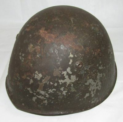 WW2 Italian M33 Helmet With Liner/Partial Chin Strap