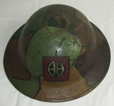WW1 U.S. M1917/P17 Doughboy Helmet -Named 82nd Division Soldier With Camo Finish