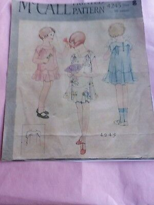 Antique Sewing Pattern- Girl's Dress # 4245