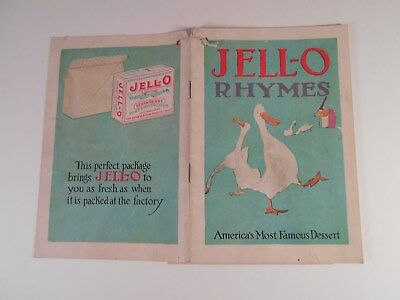 1922 JELL-O America's Most Famous Dessert Booklet The Genesee Pure Food Company