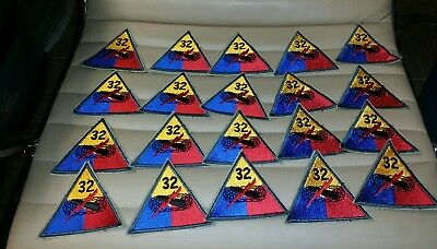 U.S. Army Patch 32nd Armored Division - Lot of 20