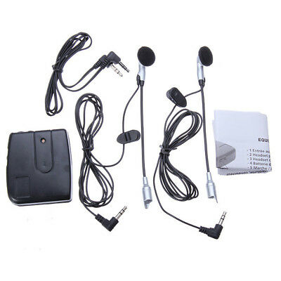 Motorcycle Helmet Wired Walkie Talkie Front Rear Intercom Headphone Earphone