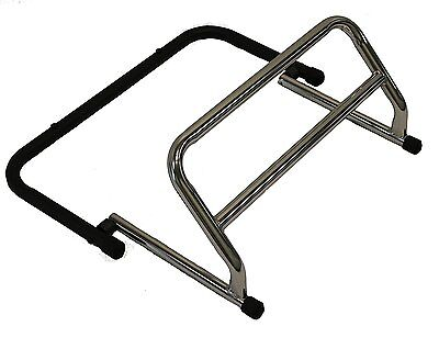 Stand2learn Chrome Flip Footrest with Black Base Support S2LF32C