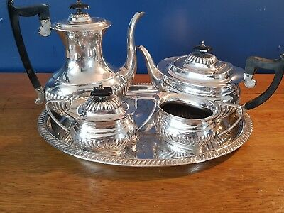 A Beautiful Vintage 5 Piece Silver Plated Tea Set By Viners Of Sheffield.ornate.