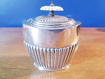 An Antique Silver Plated Tea Caddy By Richard Richardson.sheffield.rare.