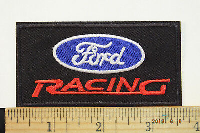 Ford Racing  Iron-On Embroidered Patch, 3.5""