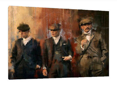 Peaky Blinders - 34X24 Inch Large Framed Hd Canvas - Tommy Shelby Art Work