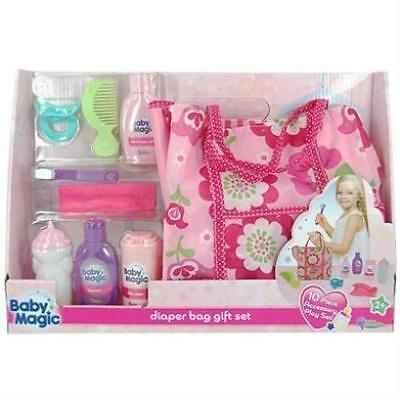 Baby Magic Doll Diaper Bag Gift Set 10 Piece Accessory Play Set New