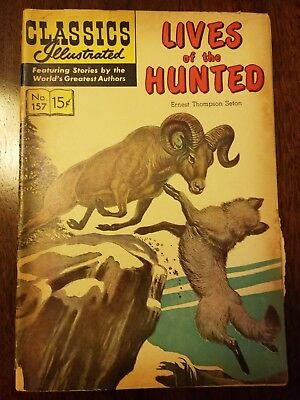 Classics Illustrated 157 - Fair - 1st - Lives of the Hunted, Ernest Seton