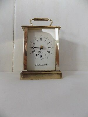 The London Clock Company – Vintage SOLID BRASS CARRIAGE CLOCK.Works well, V.Good